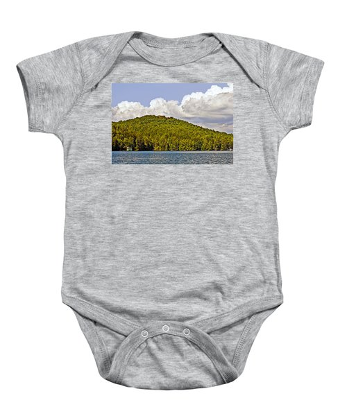 Afternoon Clouds Over Lake Baby Onesie