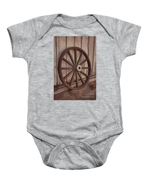 An Old Wagon Wheel Baby Onesie