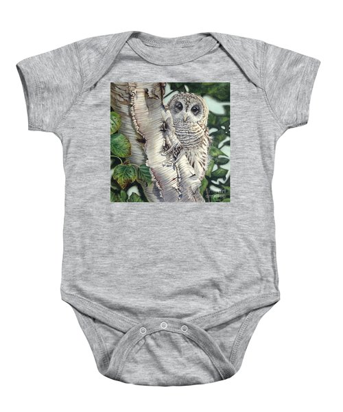 Barred Owl II Baby Onesie