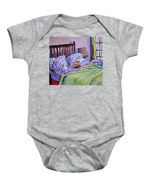 Bed And Books Baby Onesie