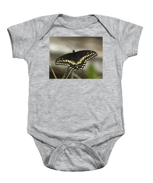 Black Swallowtail Din103 Baby Onesie