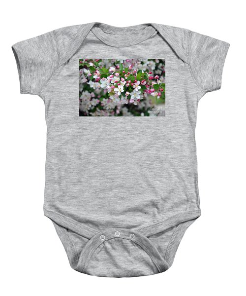 Blossoms On Blossoms Baby Onesie