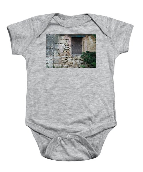 Boarded Window England Baby Onesie