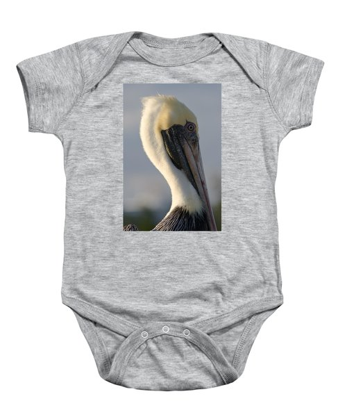 Brown Pelican Profile Baby Onesie
