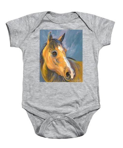 Buckskin Sport Horse Baby Onesie