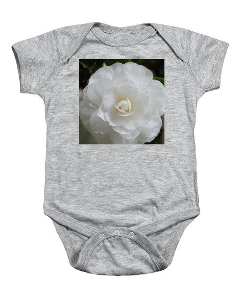 Camellia After Rain Storm Baby Onesie