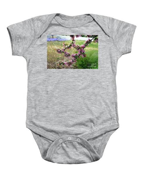 Circle Of Blossoms Baby Onesie
