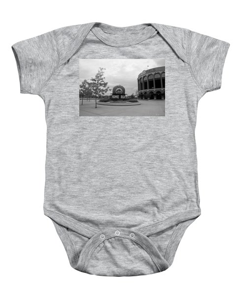 Citi Field In Black And White Baby Onesie