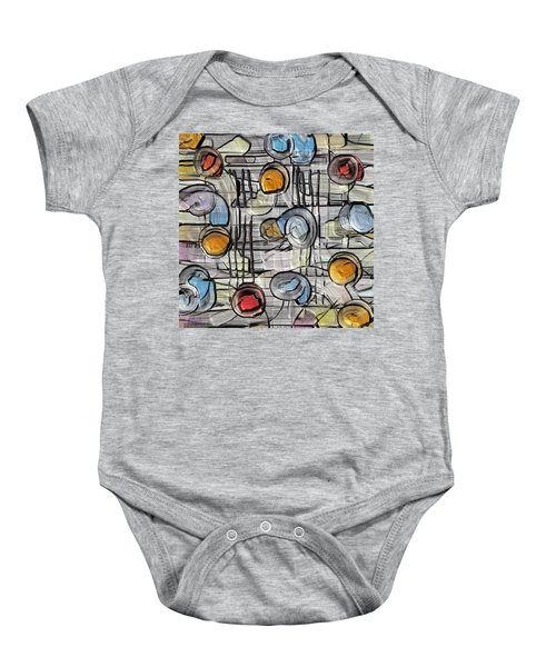 Colors Fighting To Get Out Baby Onesie