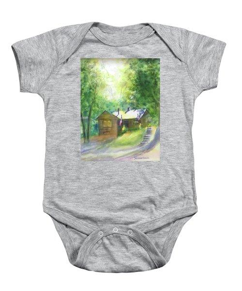 Cool Colorado Cabin Baby Onesie