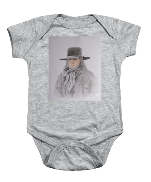 Cowgirl In Hat Baby Onesie