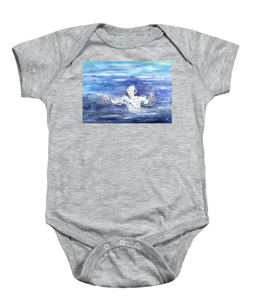 David Bowie In Ashes To Ashes Baby Onesie