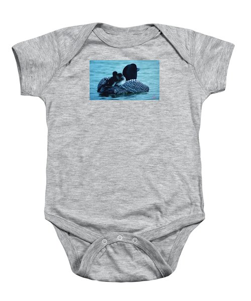 Baby Onesie featuring the photograph Duck Family Joy In The Lake  by Colette V Hera  Guggenheim