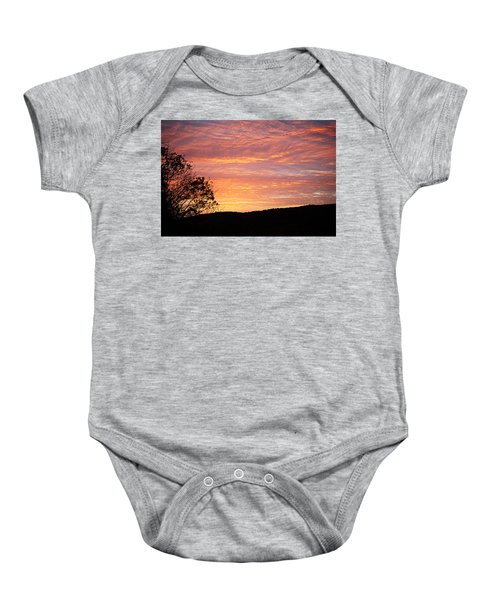 Fall Sunrise Baby Onesie
