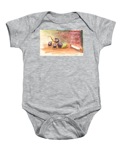 Grapeality Baby Onesie by Rod Ismay