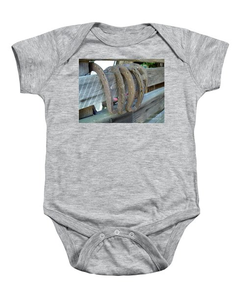 Horse Shoes Baby Onesie