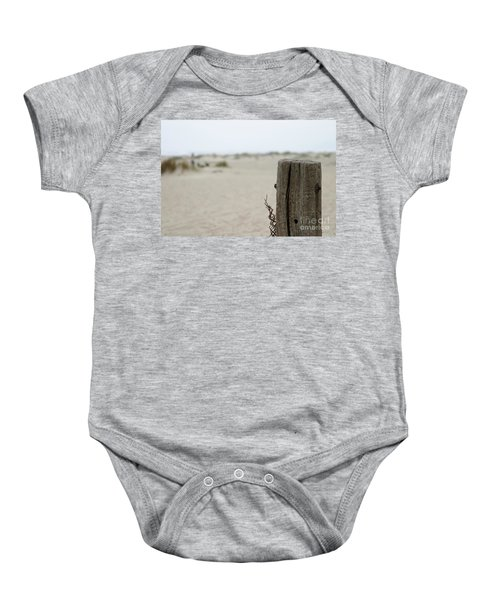 Old Fence Pole Baby Onesie