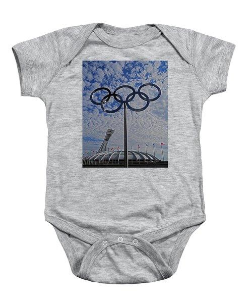 Olympic Stadium Montreal Baby Onesie