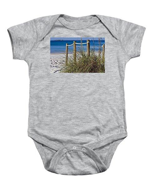 Path To The Beach Baby Onesie