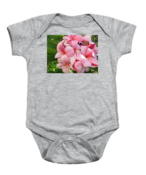 Baby Onesie featuring the photograph Pink Plumerias by Shane Kelly
