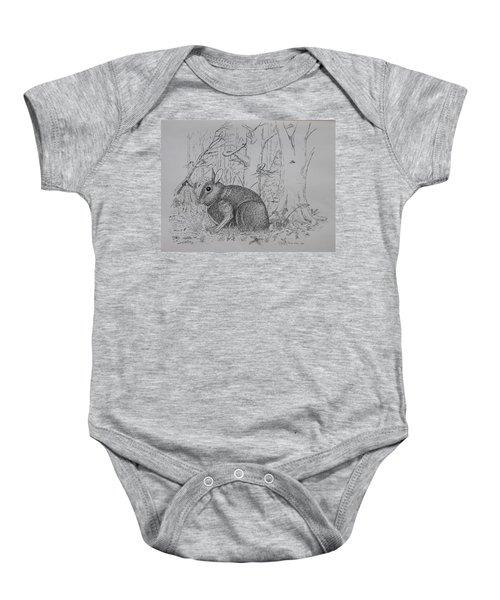 Rabbit In Woodland Baby Onesie