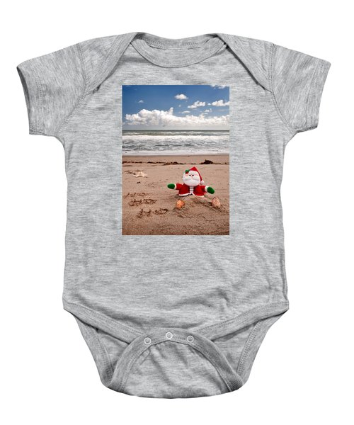Santa At The Beach Baby Onesie