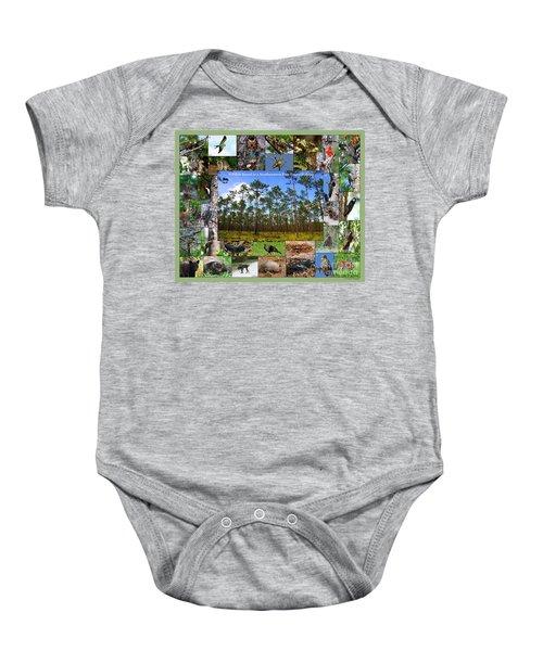 Southeastern Pine Forest Wildlife Poster Baby Onesie