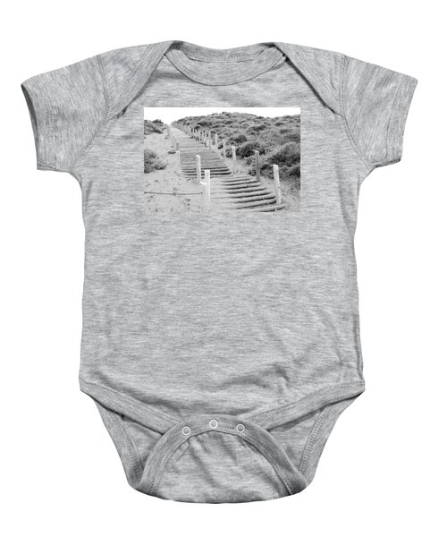 Baby Onesie featuring the photograph Stairs At Baker Beach by Shane Kelly