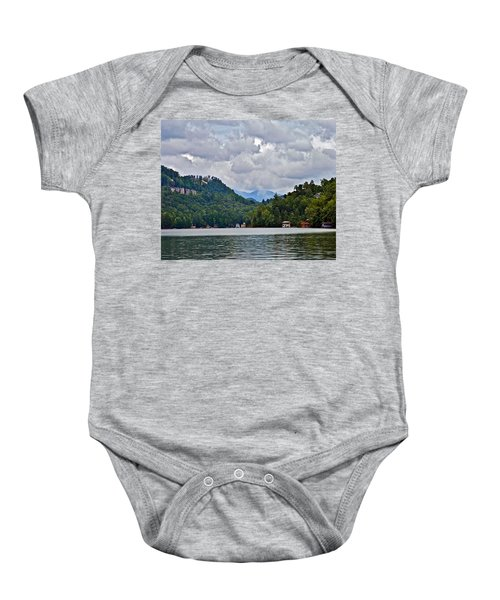 Storm Clouds Over The Lake Baby Onesie