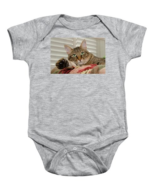 The Cat With Green Eyes Baby Onesie