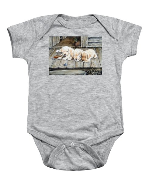 Tuckered Out Trio  Sold  Prints Available Baby Onesie