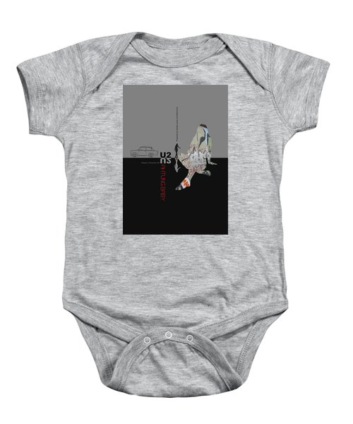 U2 Poster Baby Onesie
