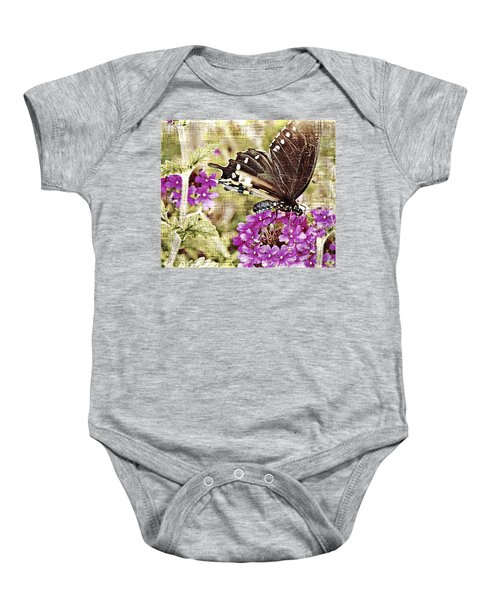 Vintage Butterfly With Flower Baby Onesie