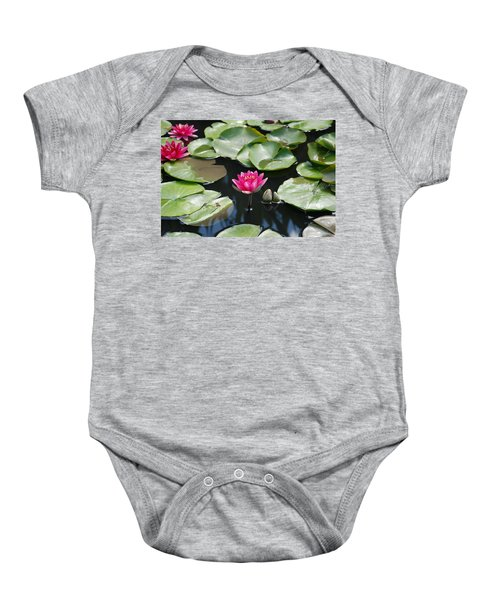 Baby Onesie featuring the photograph Water Lilies by Jennifer Ancker