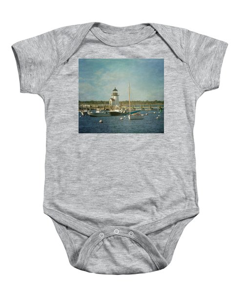 Welcome To Nantucket Baby Onesie