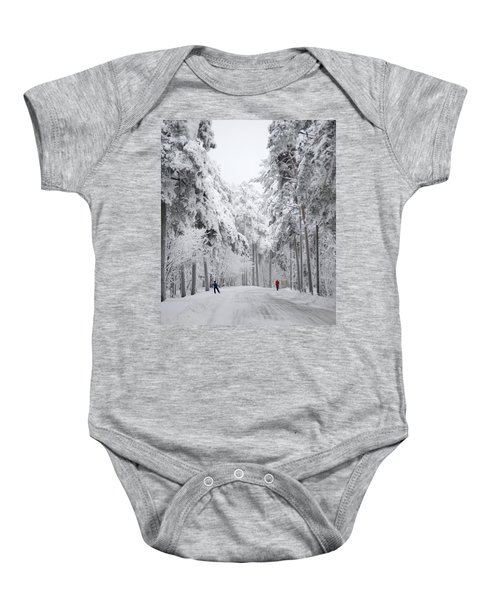 Winter Activities Baby Onesie