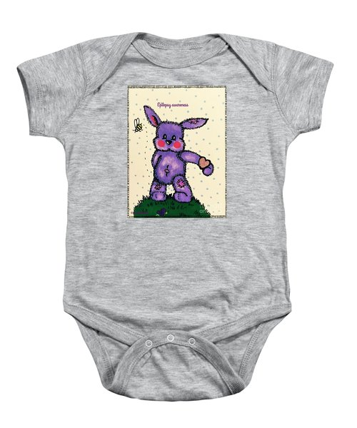 Epilepsy Awareness Bunny Baby Onesie
