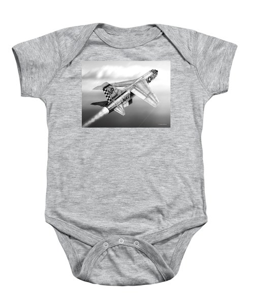 F-8e Crusader Drawing Baby Onesie