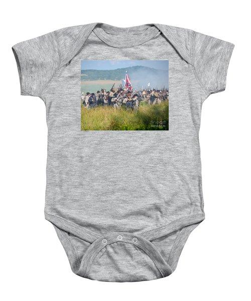 Gettysburg Confederate Infantry 9214c Baby Onesie