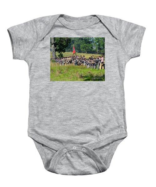 Gettysburg Confederate Infantry 9270c Baby Onesie