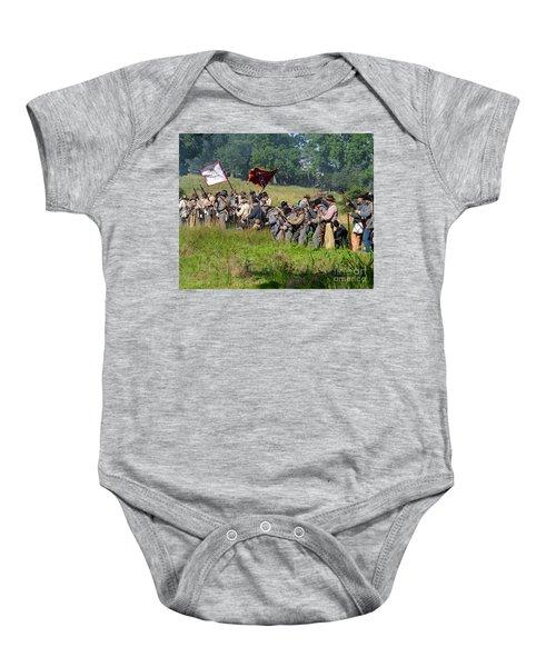 Gettysburg Confederate Infantry 9281c Baby Onesie