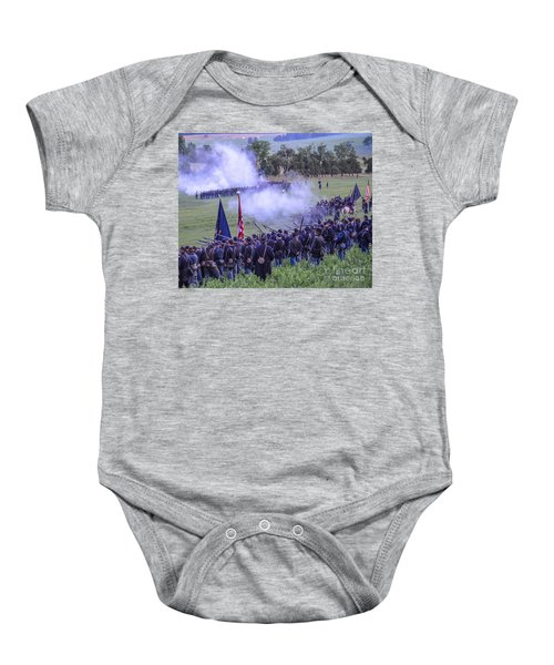 Gettysburg Union Artillery And Infantry 7496c Baby Onesie