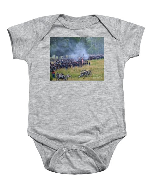 Gettysburg Union Artillery And Infantry 8456c Baby Onesie