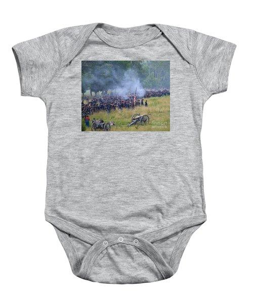 Gettysburg Union Artillery And Infantry 8456c Baby Onesie