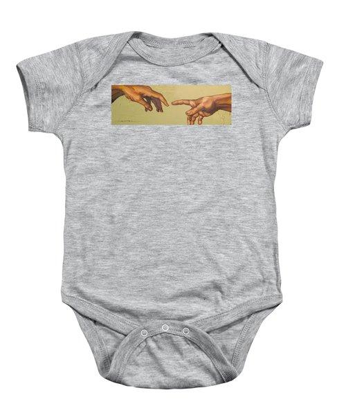 Michelangelos Creation Of Adam 1510 Baby Onesie
