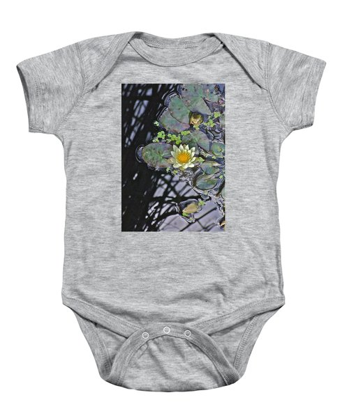 September White Water Lily Baby Onesie