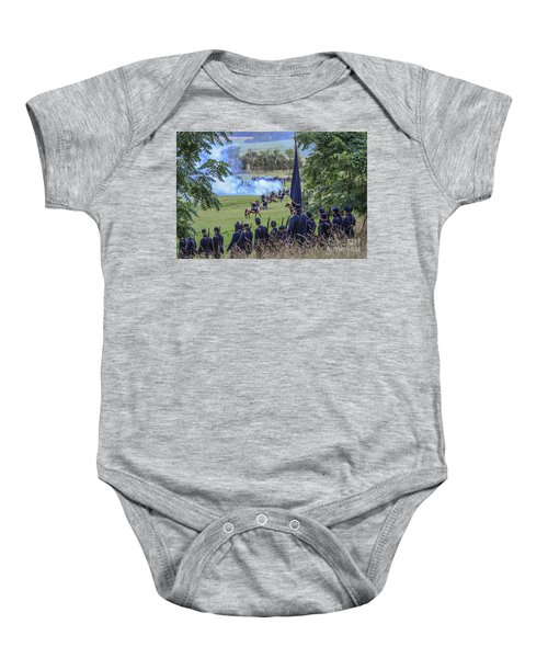 Gettysburg Union Artillery And Infantry 7457c Baby Onesie