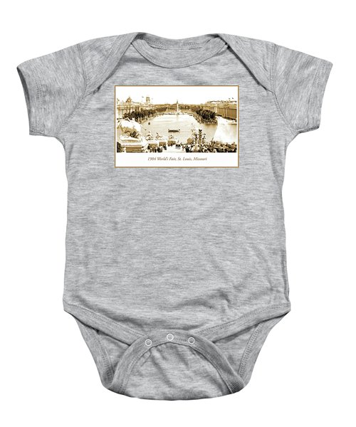 1904 World's Fair, Grand Basin View From Festival Hall Baby Onesie