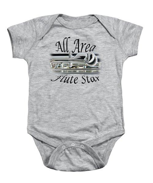 All Area Flute Star  Baby Onesie