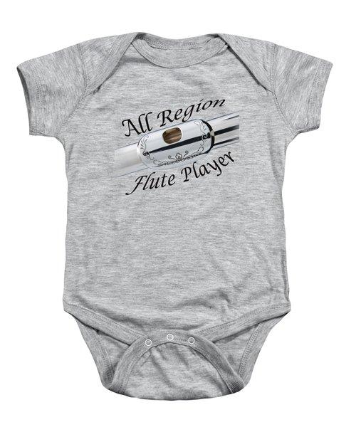 All Region Flute Player Baby Onesie